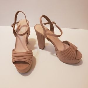 Chinese Laundry Dusty Rose Chunky Heel Sandals